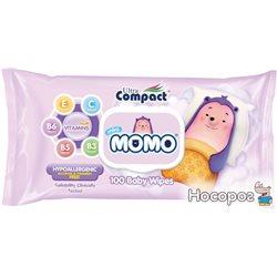 Детские влажные салфетки Ultra Compact Mini Momo 100 шт с клапаном (8697420534974)