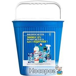 Набор средств для уборки Domestos, Cif и Glorix Максимум чистоты в ведре Unilever (67321222В) (8714100918345)