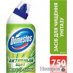 Средство для чистки унитаза Domestos Активный Щит Свежесть Лайма 750 мл (8712561531771)