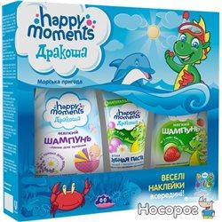 Подарочный набор Happy Moments Дракоша морские приключения 60 + 240 + 240 мл (67548196) (8714100746851)
