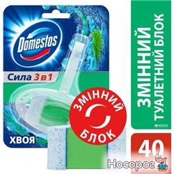 Сменный туалетный блок для унитаза Domestos Хвоя 40 г (8717163349977)