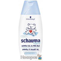 Шампунь-Гель для детей Schauma Baby без слез и спутывания 250 мл (9000100730013)