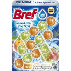Туалетные блоки для унитаза Bref Смена аромата Персик-Яблоко Триопак (9000101403794)