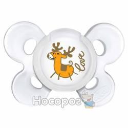 Пустышка Chicco Physio Soft Comfort Christmas силиконовая 0-6 мес.