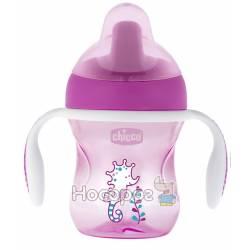 """Чашка пластикова для пиття """"Training Cup"""" 200мл. від 6 місяців (рожева)"""