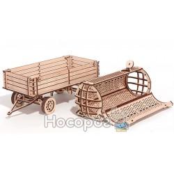 """Механічна сувенірно-колекційна модель """"Причiп для трактора"""""""