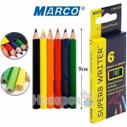 Карандаши цветные Marco 4100H-6CB (короткие)