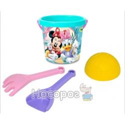 """Набір для піску """"Мінні"""" 4 ел. з термонаклейкою, Disney 77451"""