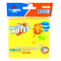 Блок бумаги для заметок с клейким слоем YZW 303