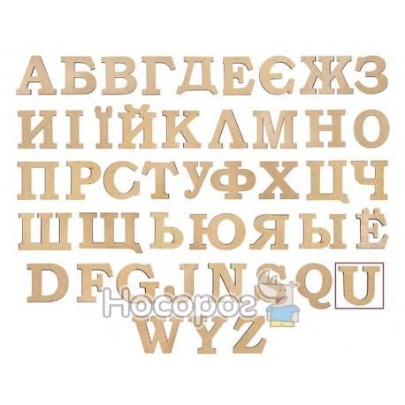 """Фото Заготовка літера """"U"""" ROSA Talent висота 3 см"""