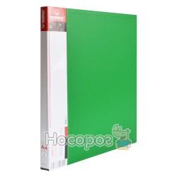 Папка з прижимом+карман А4, 2см, NORMA 5034 зелена (03050424) (20)