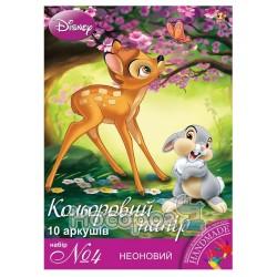 Бумага цветная неоновая 1 Вересня №4 А4, 10л.