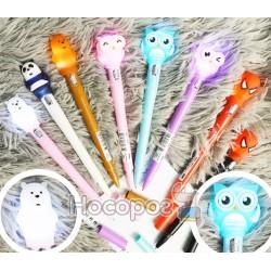 Ручка с фонариком Зверушки №8239