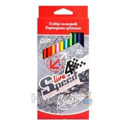 Олівці кольорові OLLI OL106-12 Live Speed