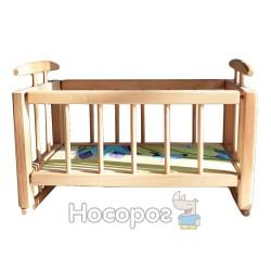 Эко-кроватка колыбель для куклы деревянная