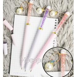 Ручка с подвеской-жемчужиной и с кристаллами №6300