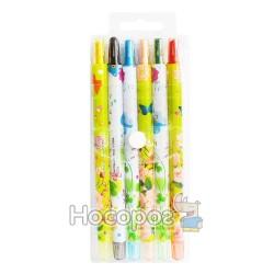 Карандаши восковые 6 цветов 200