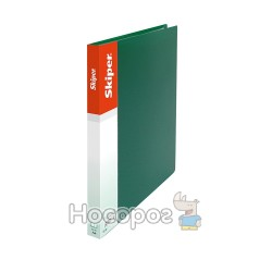 Папка с прижимом А5 Skiper SK-11 зеленая