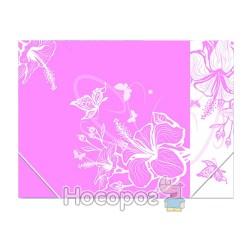 Папка на резинках А4 Skiper SK-4302 LF L'inspiration des Fleurs розовая