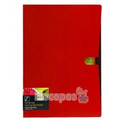 Папка з прижимом та карманом Data bank DB-11TW Twin-Color А4 вишнева 410103