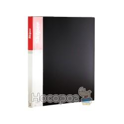 Папка пластик Skiper SK-30 на 30 файлів А4, чорна 410880