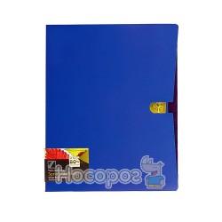 Папка з прижимом та карманом Data bank DB-11TW Twin-Color А4 ультрамарин 410104