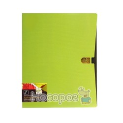 Папка з прижимом та карманом Data bank DB-11TW Twin-Color А4 оливкова 410102