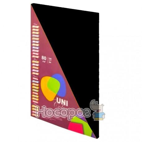 Фото Папір кольоровий Uni Color Intensiv Black А4 100 арк. 154085
