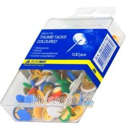 Кнопки Buromax ВМ.5176 цветные 100 шт