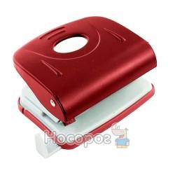 Дырокол NORMA 4346 металл , 8 см , 30арк , с линейкой , красный ( 04010271 )