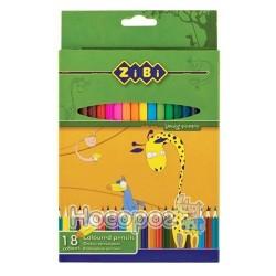 Карандаши цветные 18 цветов ZB 2402