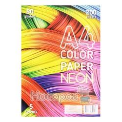 Бумага цветная Color Paper неон 200 л. 5 цветов