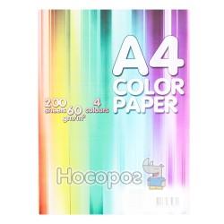 Бумага цветная Color Paper 200 л. 4 цвета