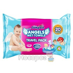 Салфетки влажные Ultra Compact Angels wet wipes travel