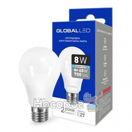 Фото Лампа светодиодная 1-GBL-162 A60 8W 4100K 220V E27 AL