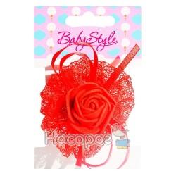 Резинка для волос BS-46-1*24-2 Роза 1шт