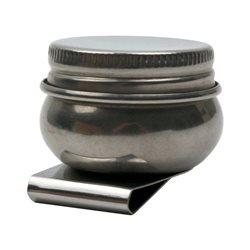 Маслёнка одинарная, металлическая с крышкой (d:4,2см), D.K.ART & CRAFT
