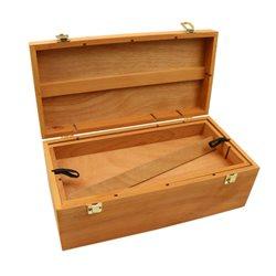 Пенал для худ. материалов, деревянный (вяз), (40х20х15см), D.K.ART & CRAFT