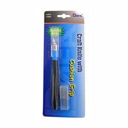 Нож макетный, C-601GS, резиновая ручка, 5 сменных лезвий, DAFA