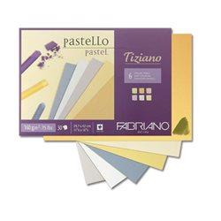Cклейка для пастели Tiziano A4 (21х29,7см), 160г/м2, 30л, теплые цвета, Fabriano