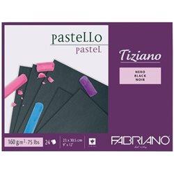 Cклейка для пастели Tiziano A4 (23х30,5см), 160г/м2, 24л, черный, Fabriano