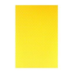 "Бумага с рисунком ""Точка"" двусторонняя, Желтая, 21*31см, 200г/м2, 204774601, Heyda"