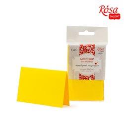 Набор заготовок для открыток 5шт, 10,3х7см №2, желтый, 220г/м2, ROSA TALENT