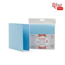 Набор заготовок для открыток 5шт, 15,5х15,5см, №5, голубой, 220г/м2, ROSA TALENT