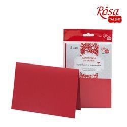 Набор заготовок для открыток 5шт, 16,8х12см, №9, красный, 220г/м2, ROSA TALENT