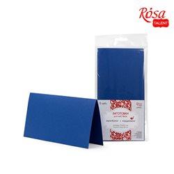 Набор заготовок для открыток 5шт, 21х10,5см, №4, тёмно-синий, 220г/м2, ROSA TALENT