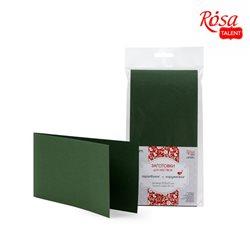 Набор заготовок для открыток 5шт,10,5х21см, №11, темно-зеленый, 220г/м2, ROSA TALENT