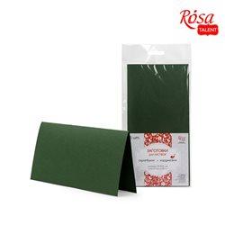 Набор заготовок для открыток 5 шт, 21х10,5см, №11, темно-зеленый, 220г/м2, ROSA TALENT