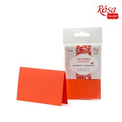 Набор заготовок для открыток 5шт,10,3х7 см, №13, оранжевой, 220г/м2, ROSA TALENT