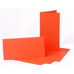 Набор заготовок для открыток 5шт,10,5х21см, №13, оранжевой, 220г/м2, ROSA TALENT